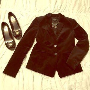 Ann Taylor sexy black velvet blazer!